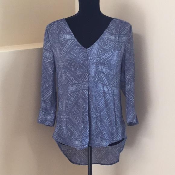 Fred David Tops - Blue print tunic